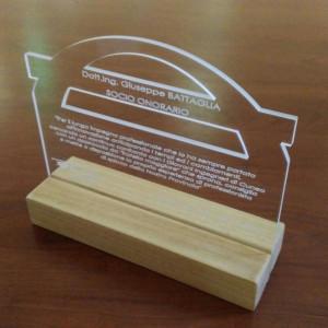 Targa celebrativa socio onorario 2017 - Dott. Ing. Giuseppe Battaglia